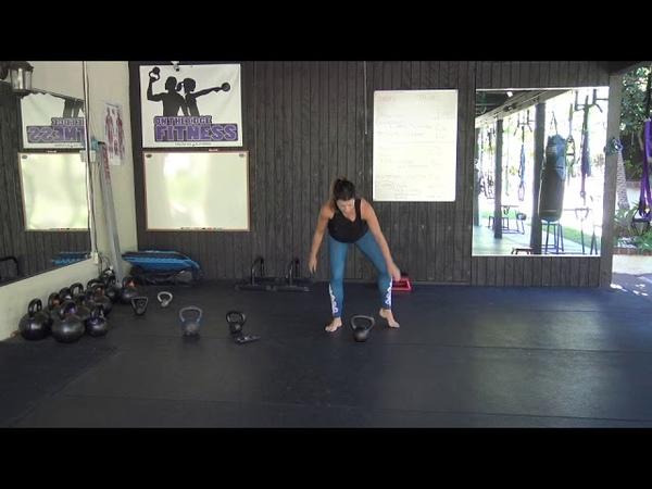 5 Minute Intense Kettlebell Workout - Introducing the Kickstand Swing