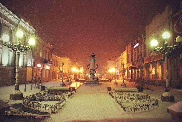 Первый снег в Улан-удэ