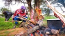 East African Food - He Gave Me The PRIZED DELICACY! WARNING - Goat Roast With Maasai in Kenya!