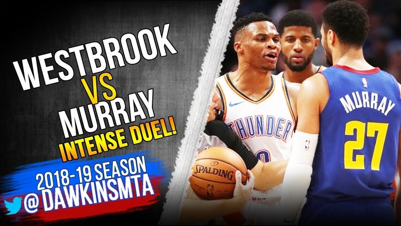 Russell Westbrook vs Jamal Murray INTENSE Duel 2018 12 14 Nuggets vs Thunder