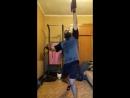 турецкий подъем на попа с весовой гирей 20 кг