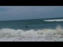 Одна на море в шторм
