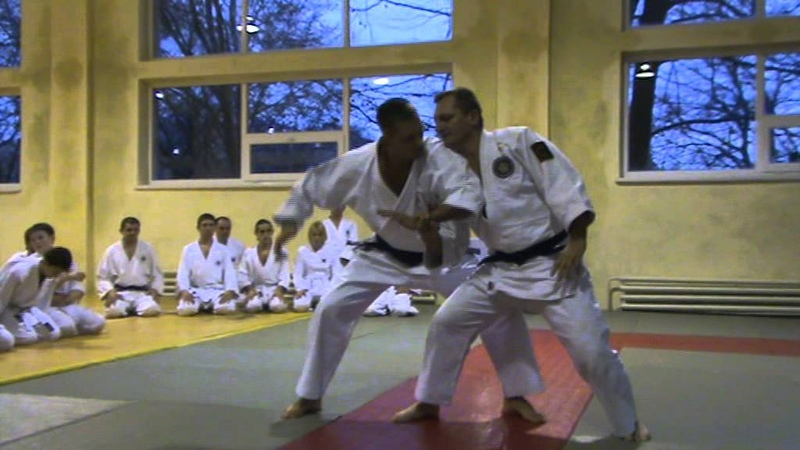 Мотоха Йошин рю Дзю Дзюцу. катате мочі - гьяку кіме наге. (Jiu Jitsu seminar)