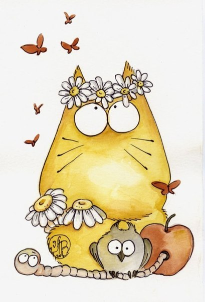 Без кота и жизнь не та…Потешные коты Maria van Bruggen.