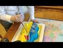 Жириновский разрезает торт в виде карты Украины