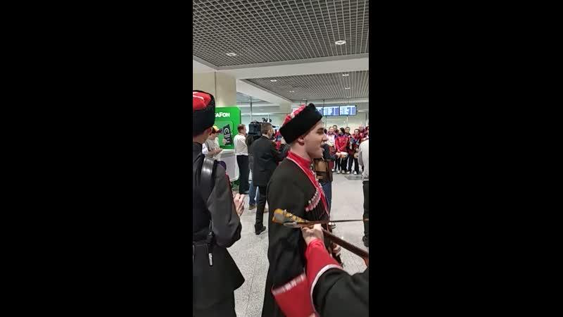 В аэропорту встречали Российских спортсменов