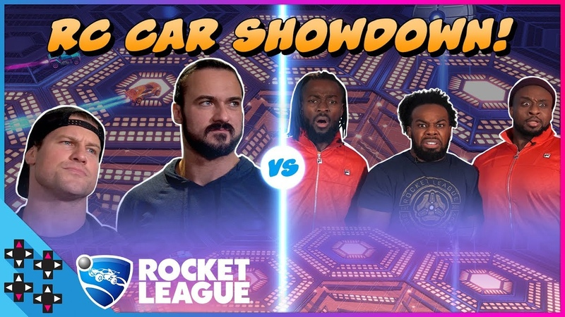 DOLPH ZIGGLER DREW MCINTYRE vs. THE NEW DAY - REAL-LIFE ROCKET LEAGUE
