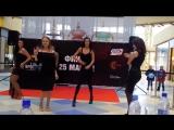 Видео #1 100 девушек станцевали в ТЦ Ауре перед жюри конкурса Мисс Европа плюс