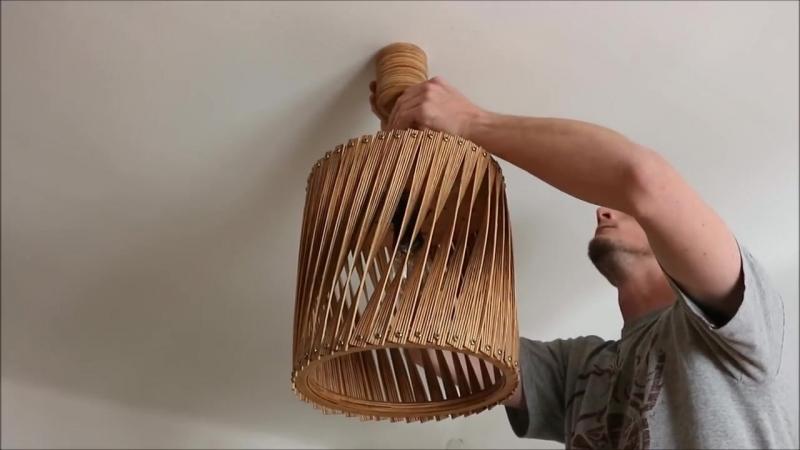 Изготовление витой лампы из фанеры