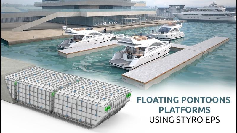 Styrofoam Light-weight Floating Pontoons