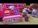 BOX OPENING OF SANRIO VELLUTATA HELLO KITTY VW CAMPER SNACK VAN WITH BURGERS AND FRIES TOY