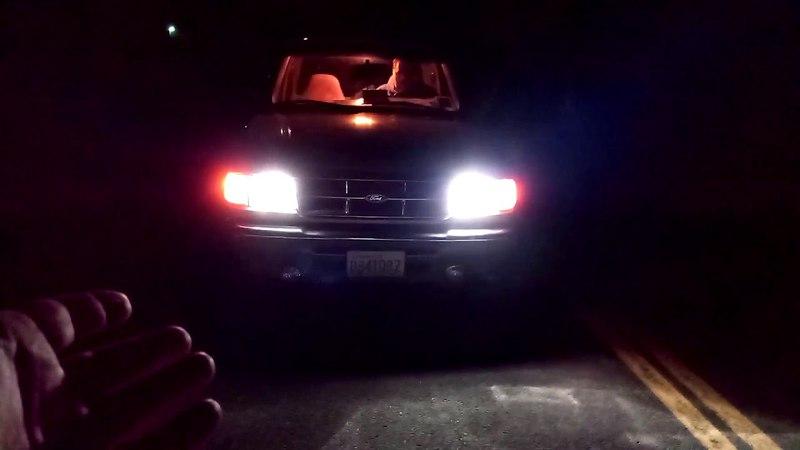 AUTOSAVER88 93 94 95 96 97 Ford Ranger Headlight Assembly OE Projector Headlamp,Black housing One Ye