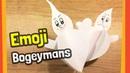 Twisting Emoji Bogeyman Crafts   Easy DIY for halloween crafts with kids