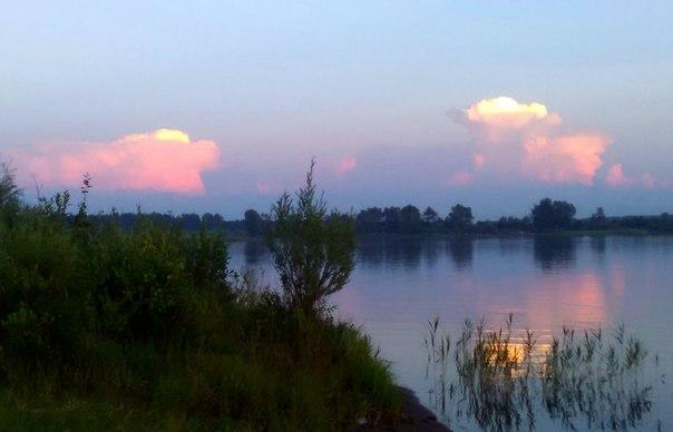 Закат на озере Ильмурзино
