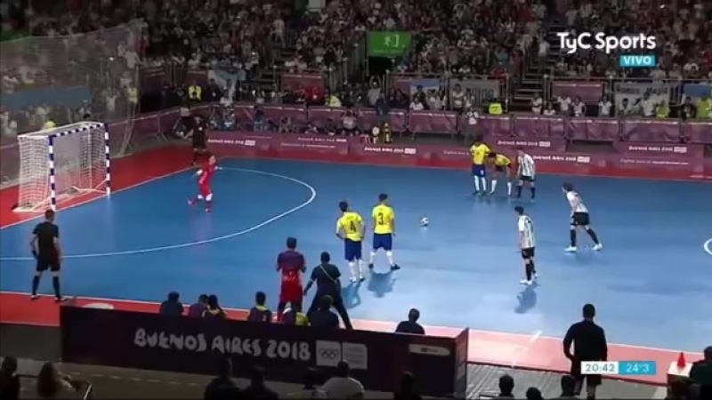 ЮОИ-2018. Полуфинал. Бразилия - Аргентина. 3:2. Обзор.