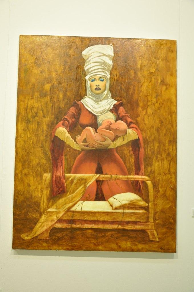 Союз художников Республики Казахстан  Бейбит Асемкул (р. 1985)  Потеря истоков. 2011  Холст, масло