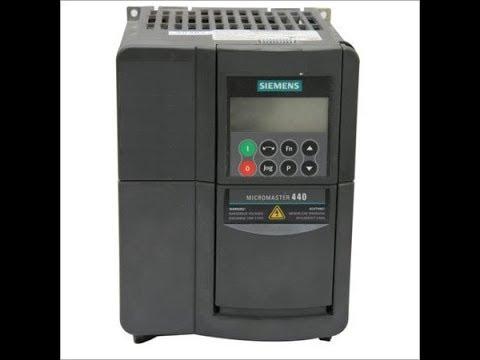 Micromaster 440 Быстрый запуск частотного преобразователя