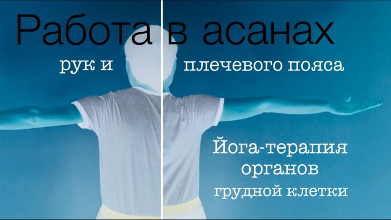 Работа в асанах рук и плечевого пояса. Йога терапия органов грудной клетки.