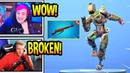 Streamers React to New INFANTRY RIFLE Gun SLICK Dance Emote Extremely Excited