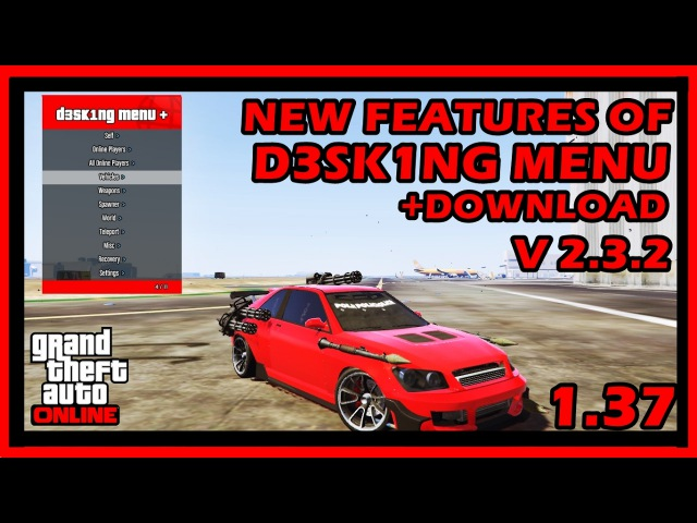 GTA V Online 1.37 D3SK1NG Mod Menu / Money Recovery Hack [DOWNLOAD] {UNDETECTED}