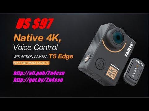 Экшн камера, ThiEYE T5, 4 К Ultra HD, Водонепроницаемая, 2018