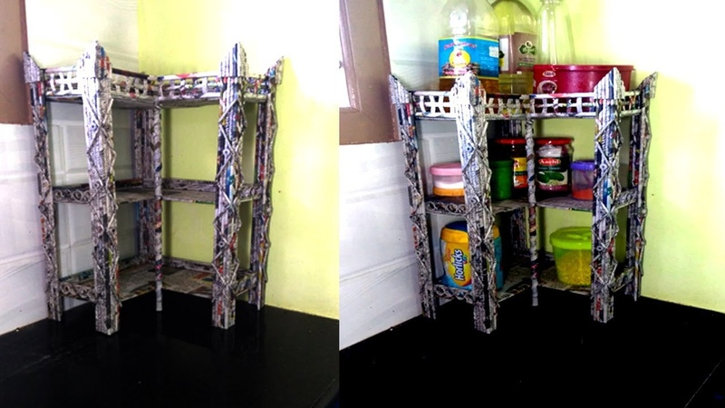 How to make a Multi Purpose CORNER SHELF | Kitchen shelf