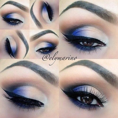 Как правильно нанести макияж для голубых глаз