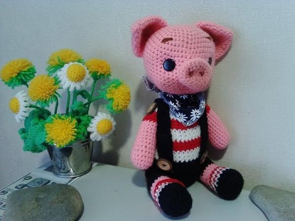 Поросенок Боня, ч.1. Little pig Bonya, р.1. Amigurumi. Crochet. Амигуруми. Игрушки крючком.