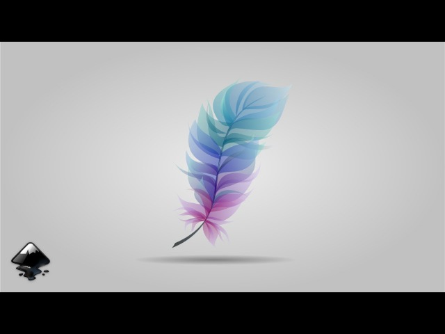 How to draw a feather in Inkscape