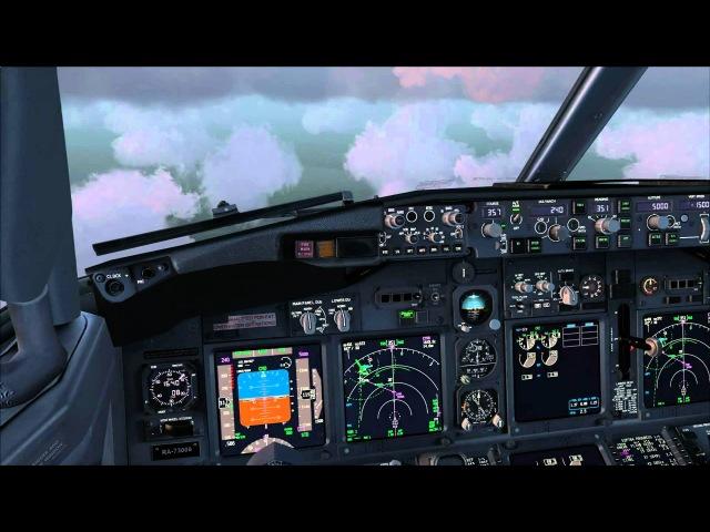 PMDG 737NGX Landing in Boryspil(UKBB) VATSIM(HD).wmv