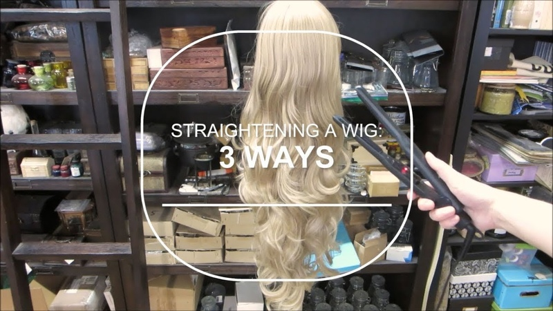 How to Straighten a Wig 3 ways