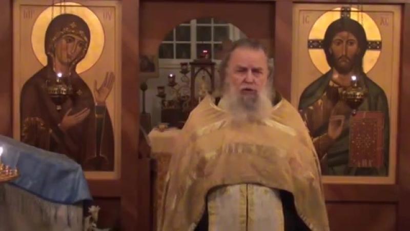 Священник Павел Адельгейм Проповедь на Вечерне в храме свв Жён мироносиц Псков 27 11 2012