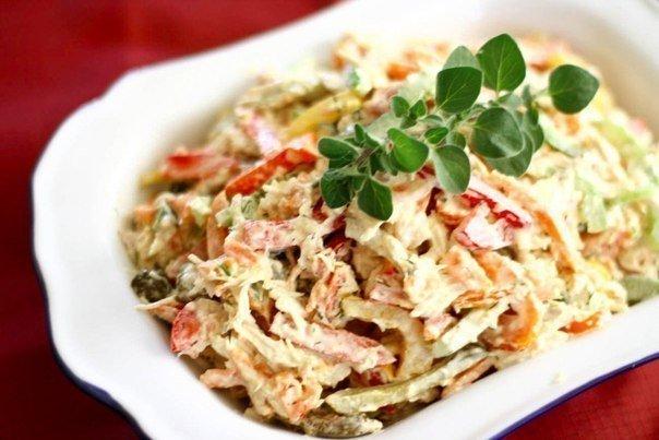 10 салатов с ГРИБАМИ 1. Салат из