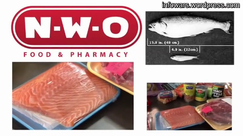 Lebensmittel und Nahrung im Supermarkt mit Monsanto-Gift, Aspartam, Fluorid, Neotam