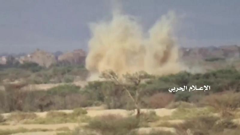 Хуситы обстреливают позиции хадистов в районах Аль-Гайл и Сабрин. Провинция Эль-Джауф.