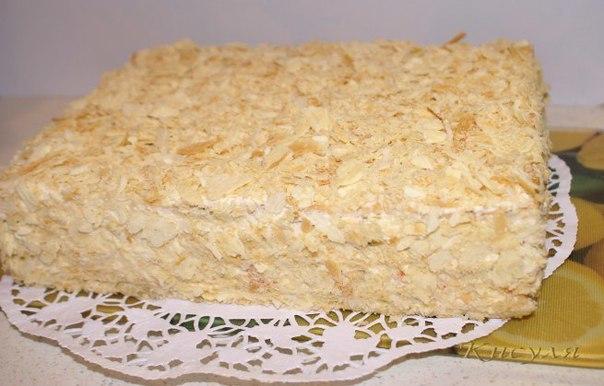 Торт наполеон из готового теста рецепт с фото