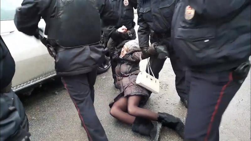 Задержания в Москве на Мичуринском 30Б