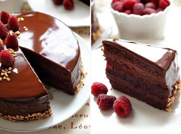 Торт «Малиновый трюфель»