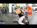 Руслан Халецкий и Павел Баранов. Тренировка спины в кроссовере. Спортивное питание. Гормон роста.