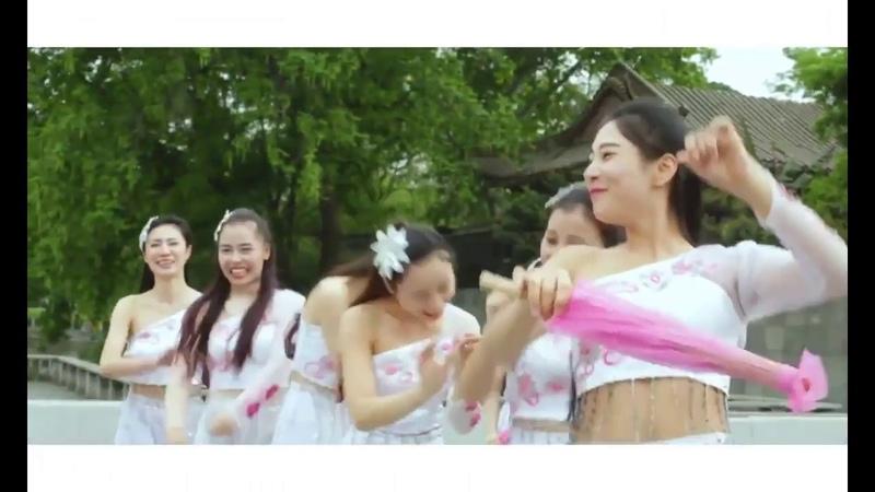 Изящный китайский танец. 《杏花 弦 外 雨》
