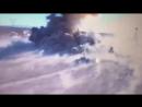 Бой Т-72 и машины террористов в Ираке (запись беспилотника)