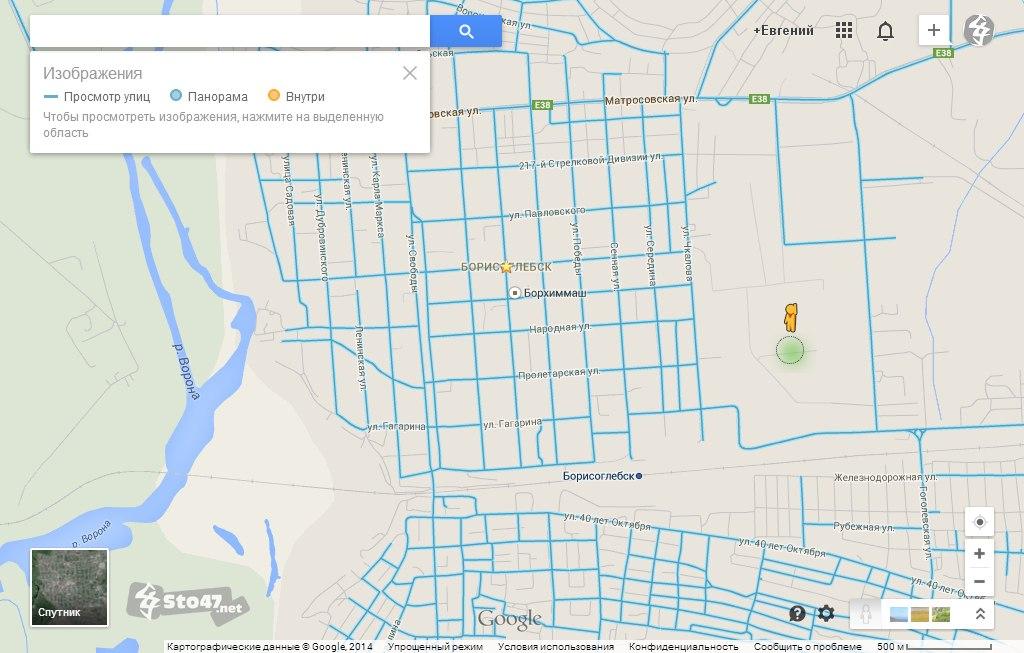 Карта города Борисоглебска