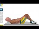 Упражнения для мыщц живота Скручивание с руками на бедрах