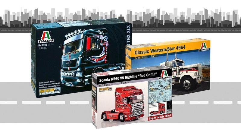 Модели грузовиков в масштабе 1 24 от компании Italeri