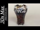 3Ds max - Glass of coca cola water drops .