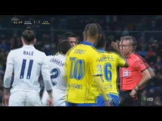 Реал Мадрид - Лас Пальмас. Удаление Бэйла
