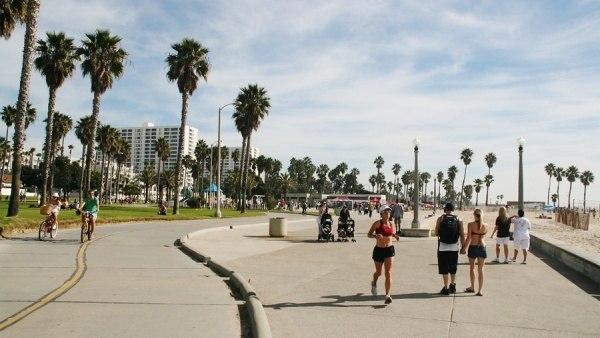 Веб камера онлайн набережная Венис Бич, Лос-Анджелес. (Venice Beach, Los Angeles)