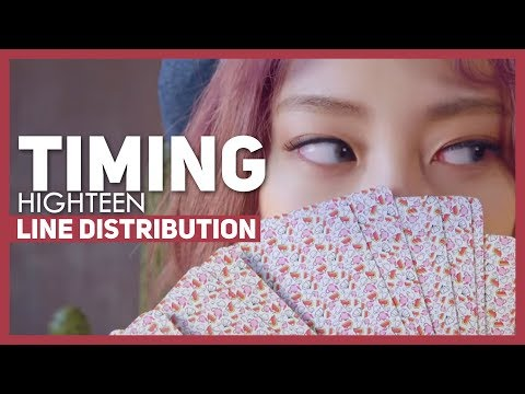 HIGHTEEN - Timing Line Distribution (Color-Coded)