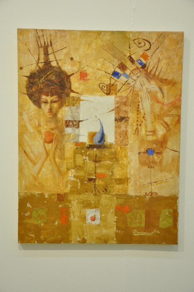 Творческое объединение художников Узбекистана  Заур Мансуров (р. 1979)  Взаимодействие. 2002  Холст, масло