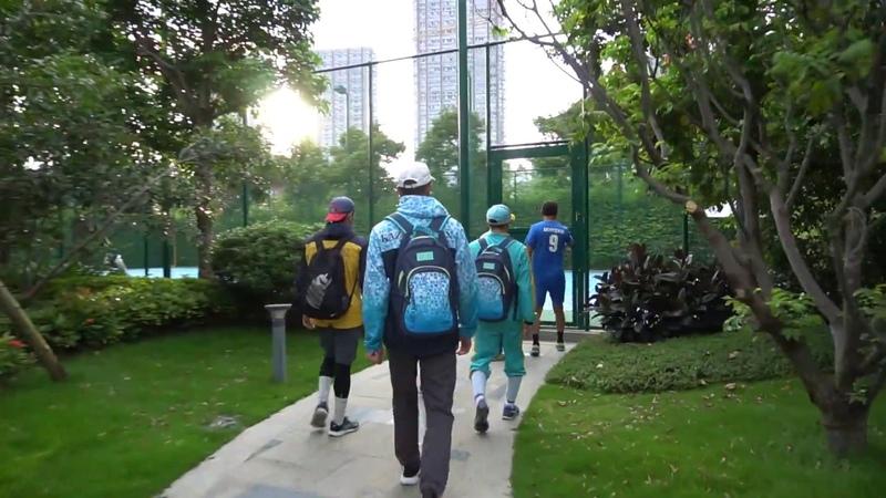 Тренировка команды Astana Arlans в городе Сямынь (Китай) к финальному матчу 26 и 28 сентября WSB